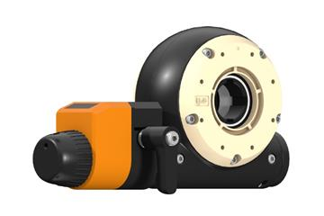 drygear® Apiro gearbox with manual clamp and position indicator