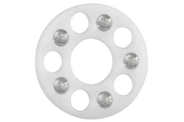 xiros® thrust washer, SL, xirodur B180, balls made of glass, slim line, mm