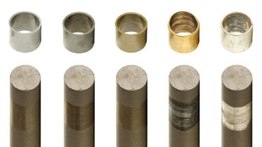 Shaft materials in a comparison test