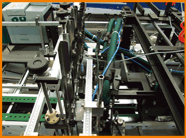 Folding and gluing machine